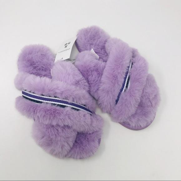 7ef4a95022b96 Xhilaration Shoes | Faux Fur Crossband Niah Slippers S56 | Poshmark